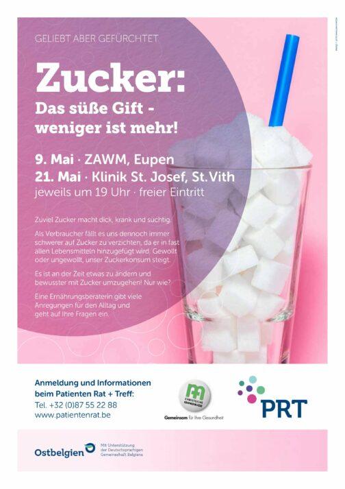 Bild für den Artikel: Vortrag Eupen: Zucker, das süße Gift -weniger ist mehr!