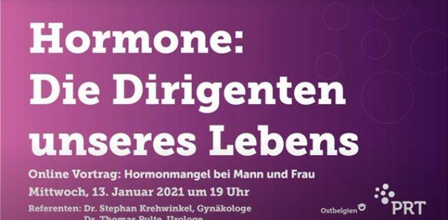 Bild für den Artikel: Online-Vortrag –                                   Hormone, die Dirigenten unseres Lebens