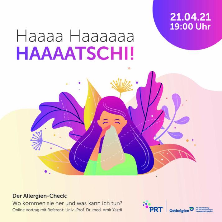 Bild für den Artikel: Online-Vortrag: HATSCHI – Der Allergien – Check !! NEUES DATUM